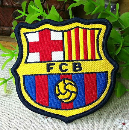 Bassar Logo Football Soccer Iron On Jacket Patch Crest Woven Badge 7cm*6.5cm Christmas DIY gift card decor(China (Mainland))