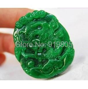 Free shipping chinese dragon jade pendant(China (Mainland))