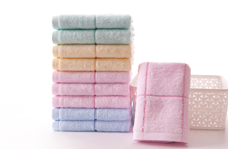 Plain white cotton towel Hand wash hair face towel super absorbent bath towel the practical that occupy the home(China (Mainland))