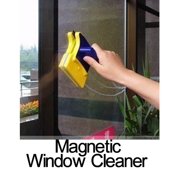 Hot Sale Useful Cleaning Brushes Magnetic Window Cleaner Double Side Glass Wiper Household Useful Surface Brush Free Shipping(China (Mainland))