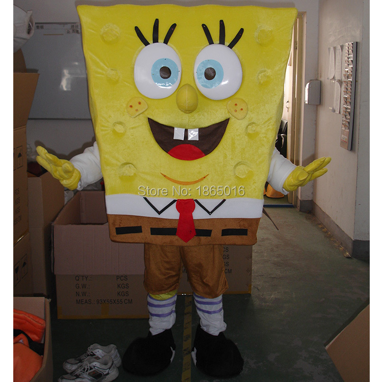 hot sale Spongebob mascot costume fancy costume halloween Bob Esponja carnival costume FREE SHIPPING(China (Mainland))