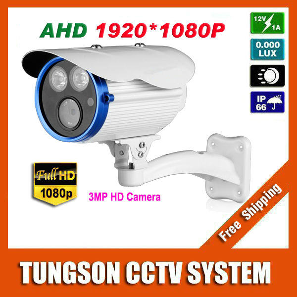 New Product Super Full HD 1920P Waterproof Outdoor 2* Array infrared Security 3MP Surveillance AHD CCTV Camera With Bracket(China (Mainland))