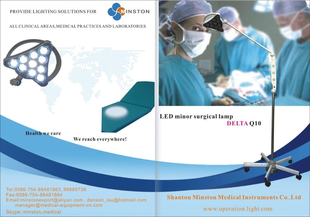 LED minor surgical lamp DELTA MINSTON 12W Q10 medical operation light mobile type(China (Mainland))