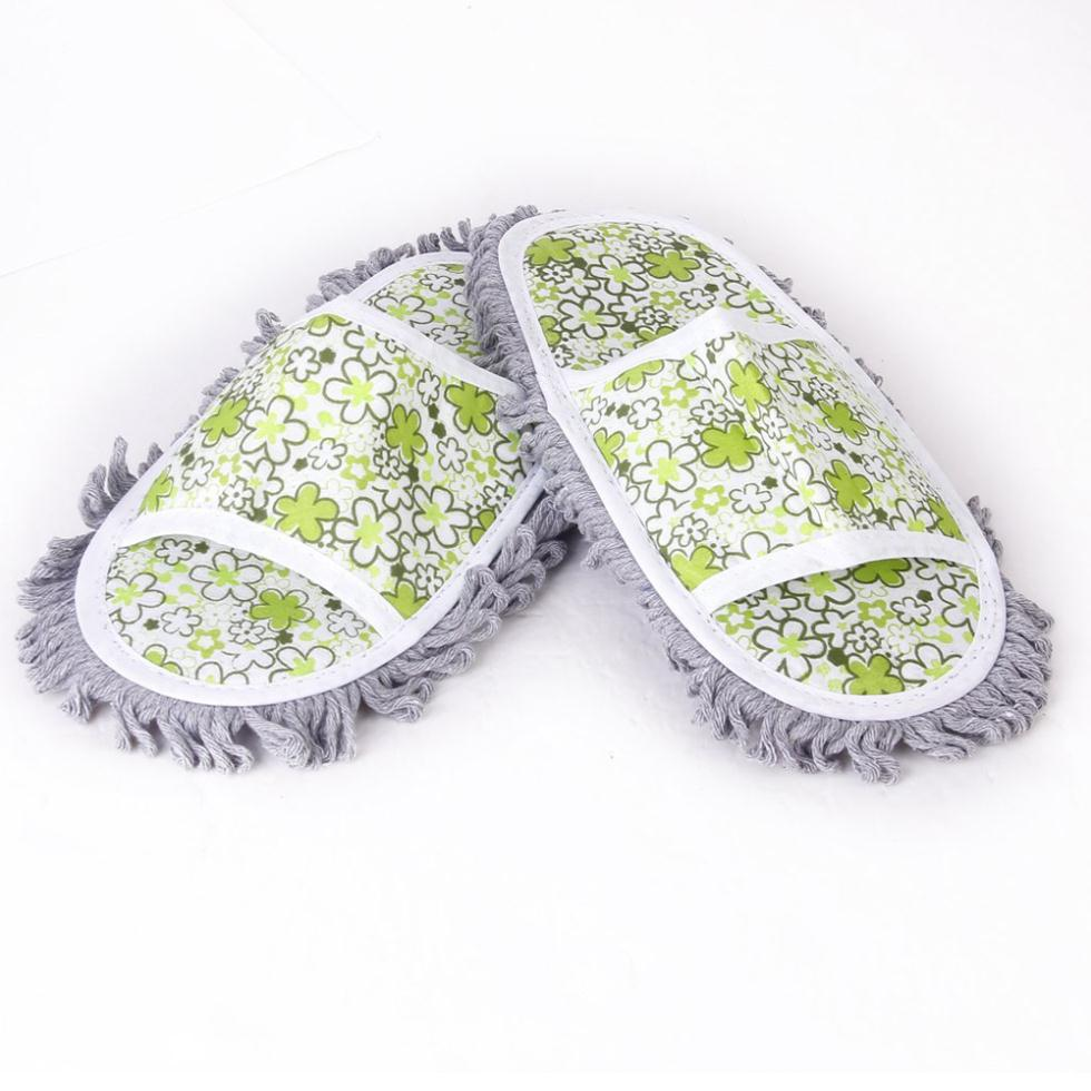 IMC Wholesale 1Pair Dusting Mop Slippers Shoes Floor Cleaner Cleaning(China (Mainland))