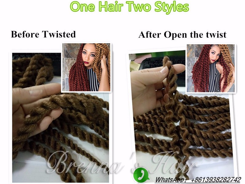 2016 New Styles Havana Mambo Twist Crochet Braid Hair! 80g/piece12-24inch Synthetic Braiding Hair,Human Braiding Hair Bulk