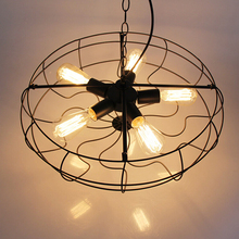 Village Retro Industrial Fan Style 5-Light Pendant Lamp Light Hanging Ceiling Lamp for Restaurant Bar Cafe Bedroom(China (Mainland))