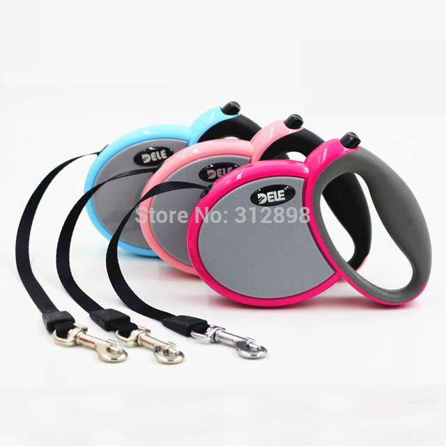 3M Flexible retractable Extending Leash For Dog And Puppy Pet  WL-001C/B  Poodle  Fashion Pink/Blue Outdoor  Cat Lead Products