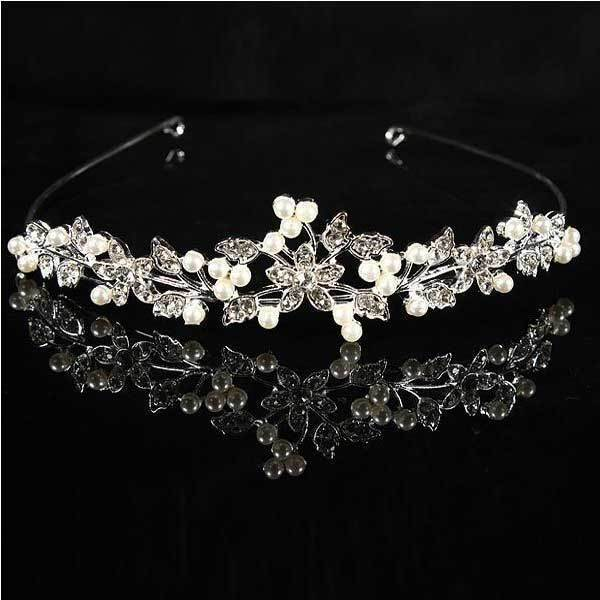BuyOneer Metal Crystle Flower Wedding Bridal Tiara Alloy Prom Party Head Band(China (Mainland))