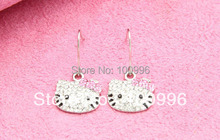 New Arrivals Korean Fashion Cute Earrings Selling Hello Kitty Earrings Factory Direct(China (Mainland))