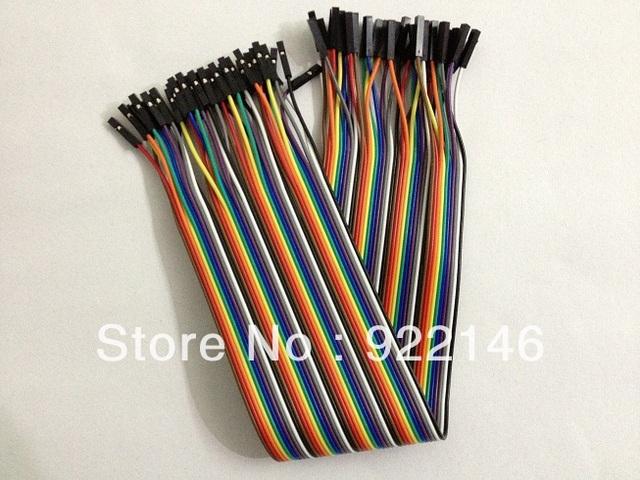 40 Pin Dual-Female Jumper Wire 1P-1P 300mm 2.54mm