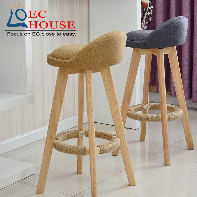 Wooden High Stool Stools For Kitchen
