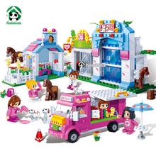 New Pet Park Girls Building Blocks Set 543Pcs 5 Toy Figures Bricks Compatible with lego Friends Toys for Girls