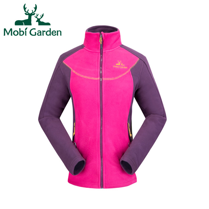 Mobi Garden Autumn New Hiking Camping Windstopper Warm Skidproof Fashion Sport Jacket Fleece Jackets For Women ZWB1311008 WWK349
