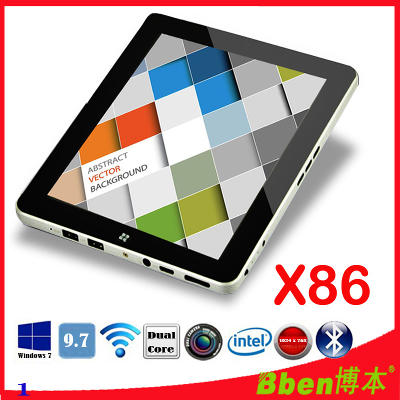 Wholesale C97 9.7 inch IPS Capactive Touch screen Windows 7 Windows XP Tablet PC N2600 Dual core Bluetooth Camera 3g tablet-pc(China (Mainland))