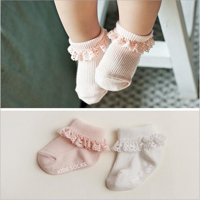 Новый младенческой ребенок иглы кружева носки дети для мальчиков девочек, Новорожденный ...
