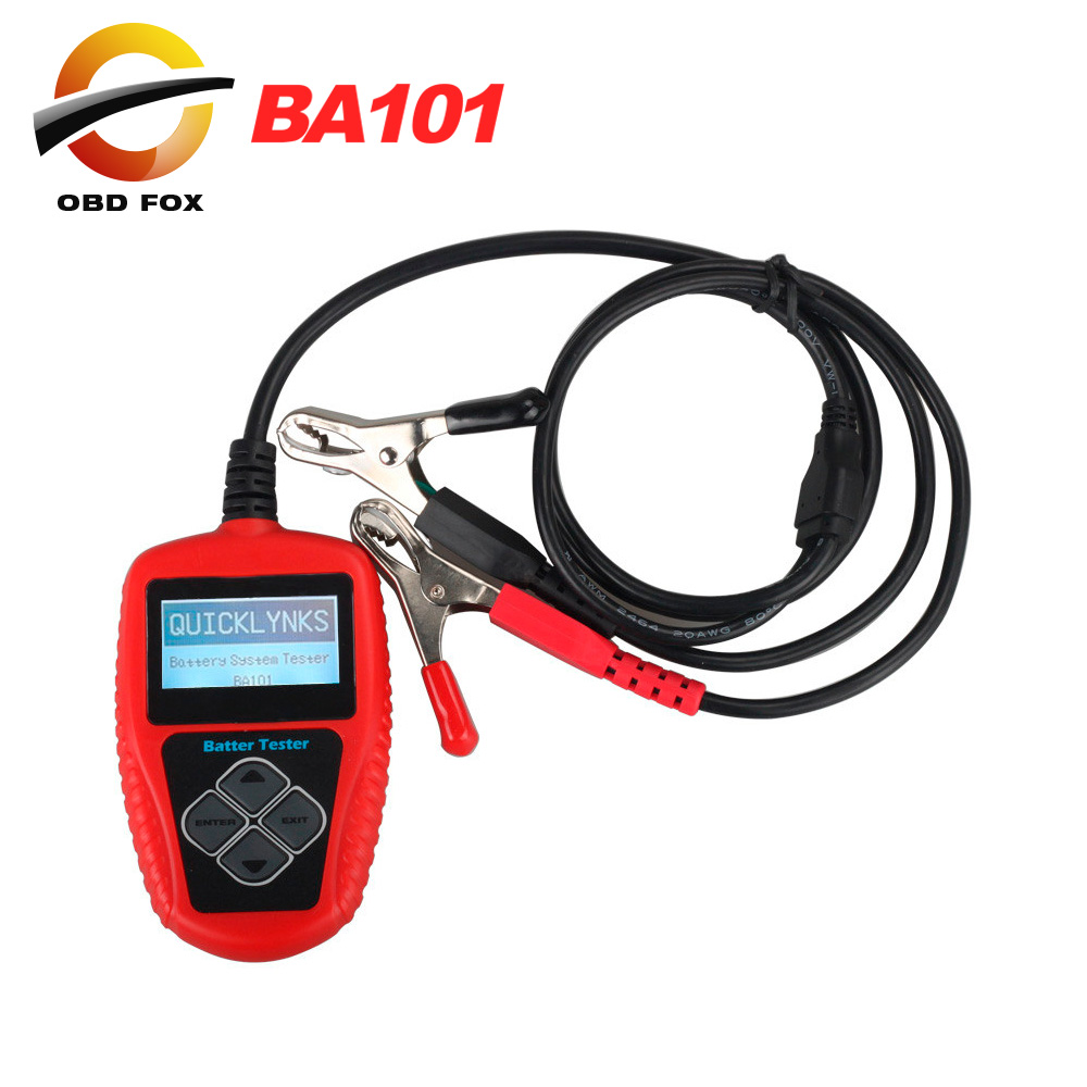 2016 New arrival QUICKLYNKS BA101 Automotive 12V Vehicle Battery Tester scanner Free Shipping(China (Mainland))