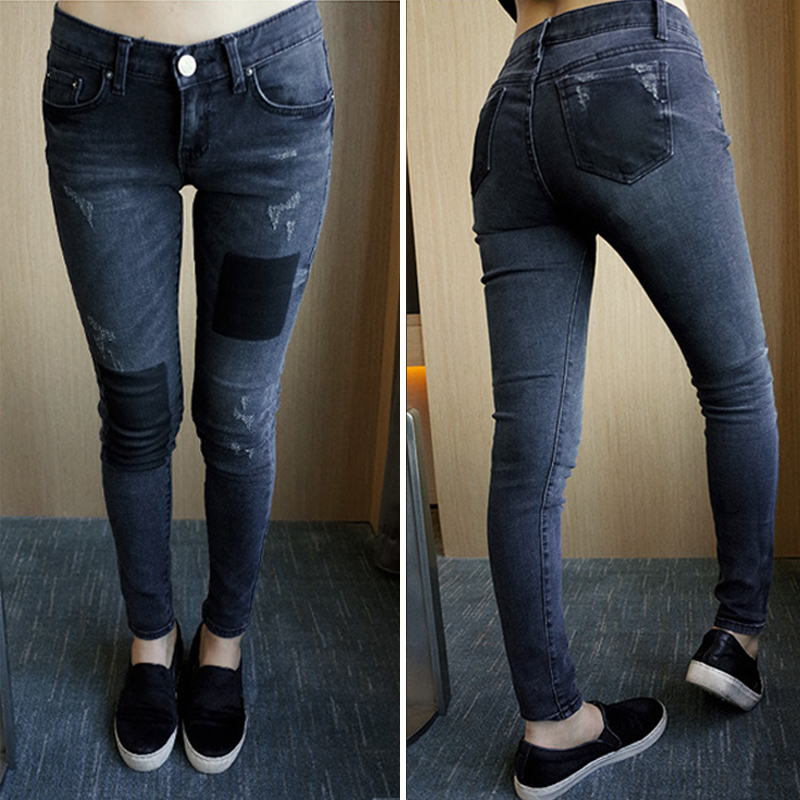Great Haren jeans embroidered cowboy pants female foot spring pants(China (Mainland))