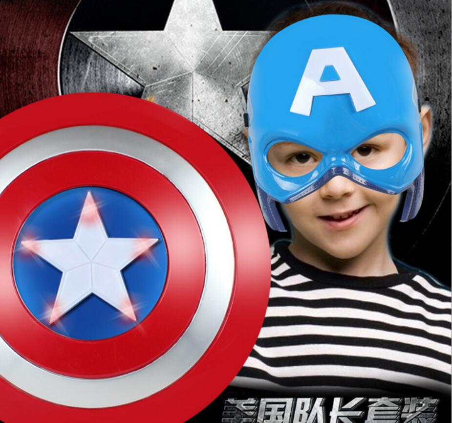 2016 Super Hero Alliance The Avenger Captain America Shield Helmet Cosplay for Kids Toy Action Figure Model Plastic Escudo(China (Mainland))