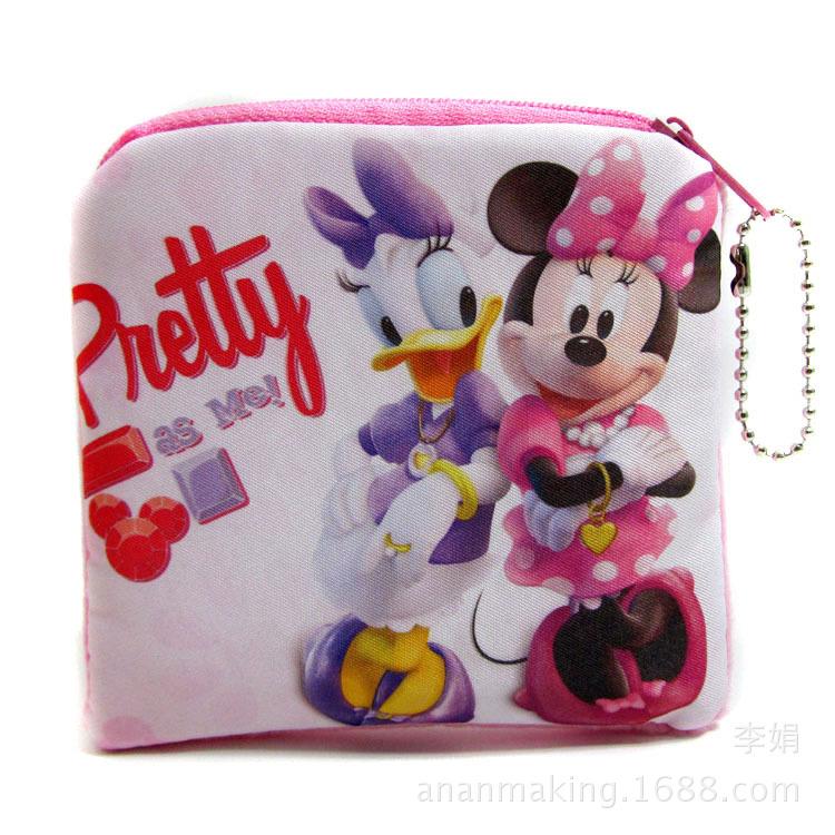 Мультфильм кошельки прекрасный дональд дак минни плюшевые портмоне дети денежные мешки розовый почтовый бумажник дети подарок