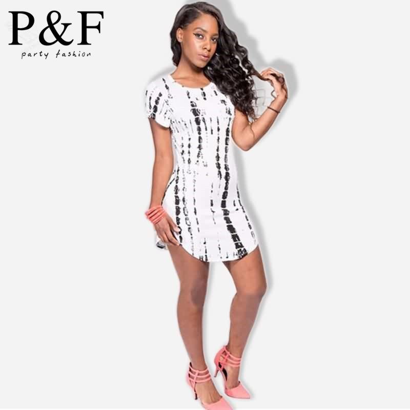 new summer 2015 white and red tshirt dress printing short ...