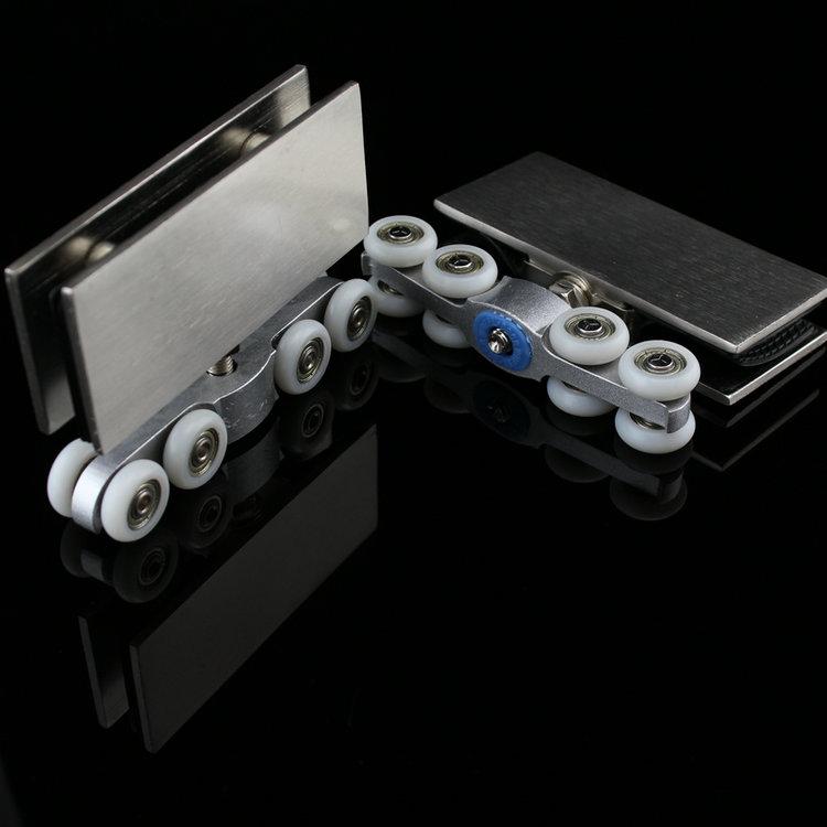 Buy 1 pair set sliding glass door pulley for Hanging sliding glass doors