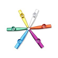 New Six Elegant Colors Metal Kazoo Musical Instrument  Holiday Party Mouth Flute for Kids and Grow-ups Love Misic(China (Mainland))