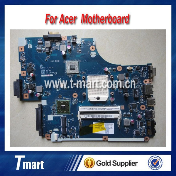 100% working Laptop Motherboard for ACER 5551 EW75 LA-5912P System Board fully tested
