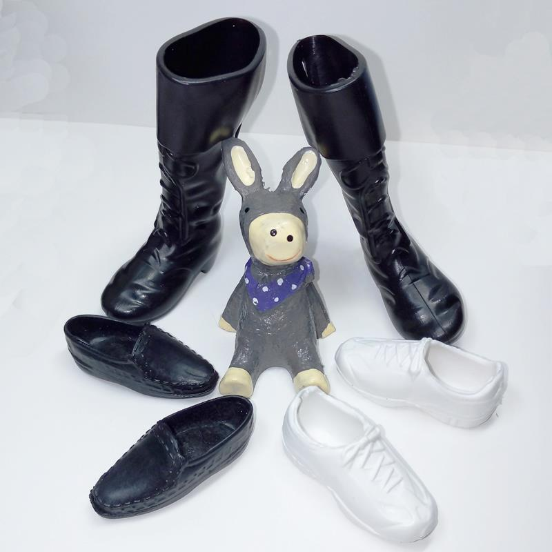 3pairs/lot Trend Doll Footwear Boots Sneakers Footwear For Ken Dolls Equipment For Barbie Boyfriend Ken Excessive High quality Child Toy