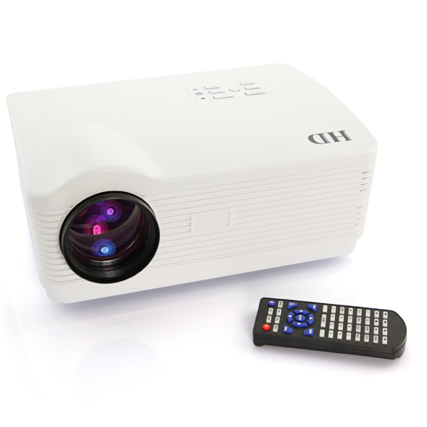 US Stock! LED Multimedia HD 3D Beamer Native 1280*768 Contrast 2000:1 Full HD LED Projektor HDMI*3 USB SD LED Projector PAL(China (Mainland))