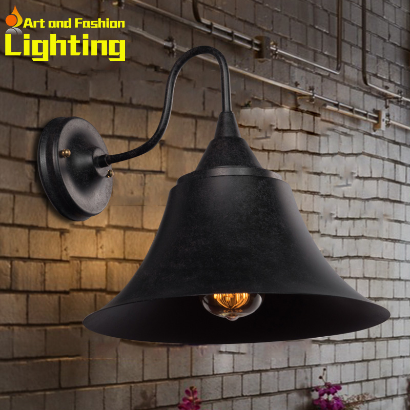 Hot sale 2015 new retro industrial iron wall lamp vintage edison bulb applicative good quality wall sconce corridor lights<br><br>Aliexpress