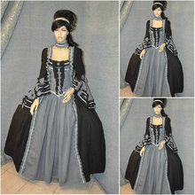 Freeship!Customer-made grey Vintage Costumes Cosplay Renaissance Dress Steampunk dress Gothic Cosplay Halloween Dresses C-744