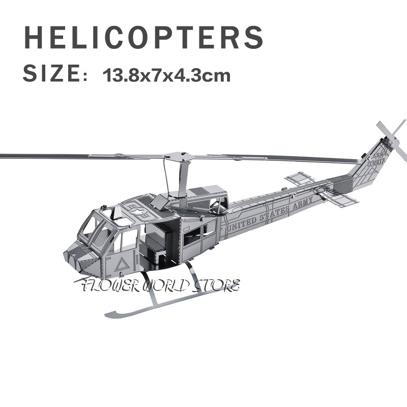 New creative Cool Helicopters 3D metal model 3D puzzles Helicopters Jigsaws Creative DIY Adult/Children gifts toys Simple DIY(China (Mainland))