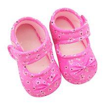 Младенческой Prewalker Малыша Девушки Ребенок Бантом Мягкая Против Скольжения Детская Кровать В Обуви Первые Ходунки 0-18 Месяцев Горячее(China (Mainland))