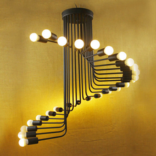 Industrial loft style restoring ancient ways chandelier personality creative cafe bar spiral staircase droplight(China (Mainland))