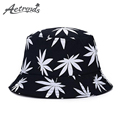 AETRENDS Maple Leaf Bucket Hat hip Hop Bob Panama Women Caps Z 1530