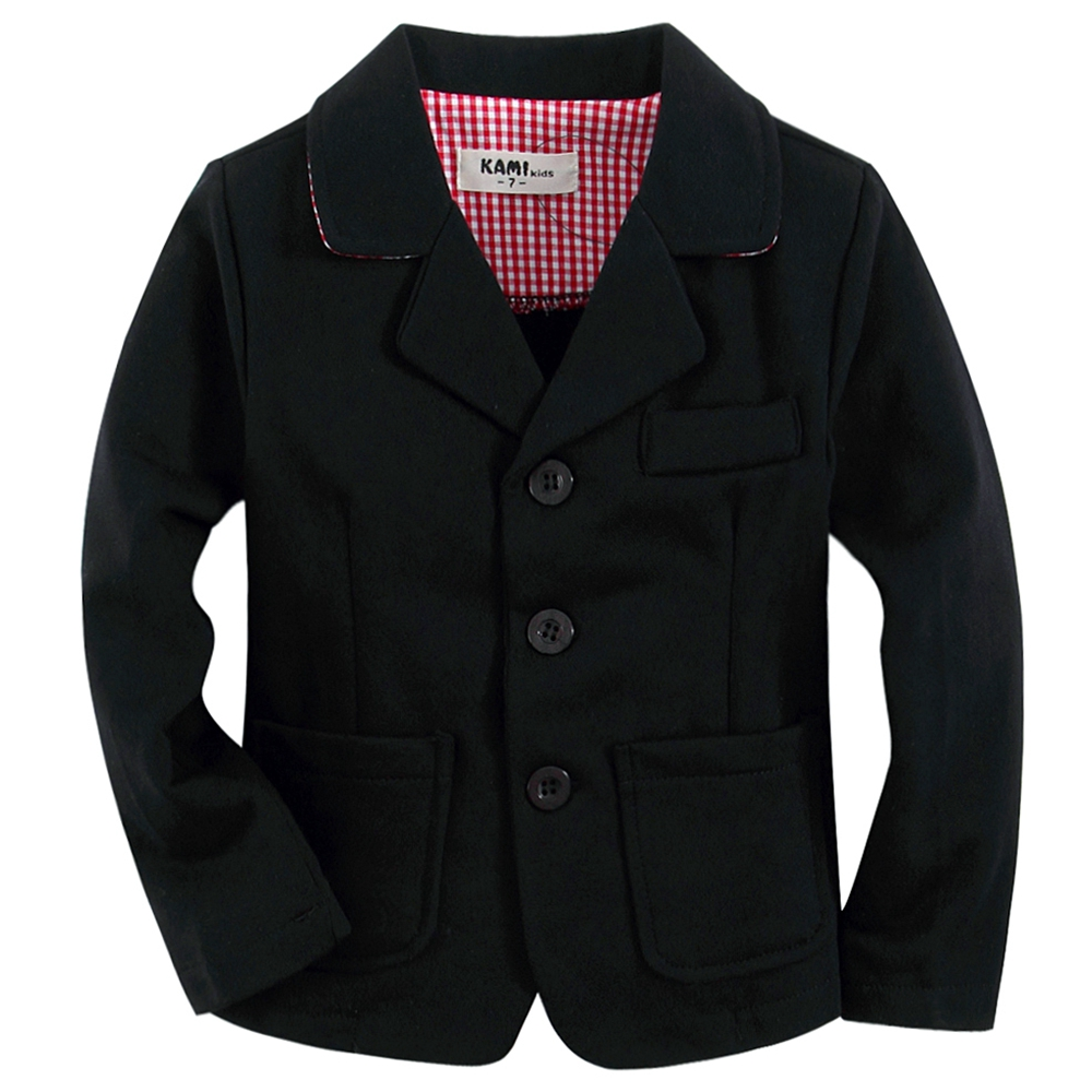 Knitted cotton 100% toddler boy blazer BB1603 B Black with red plaid lined(China (Mainland))