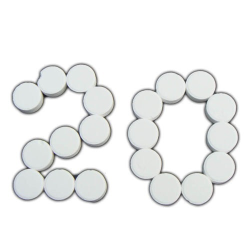 20 x 20g Chlorine Tablets Keep Your Hot Tub Swimming Pool Clean Tablet Tubs(China (Mainland))