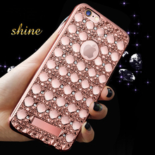 Luxury Rhinestone Electroplating Back Cover Case Samsung Galaxy A3 A5 A7 2016 A8 A9 J1 J2 J3 J5 J7 S4 S6 S7 Edge Plus G530 - E-DREAM Hongkong Science & Technology CO., LTD store
