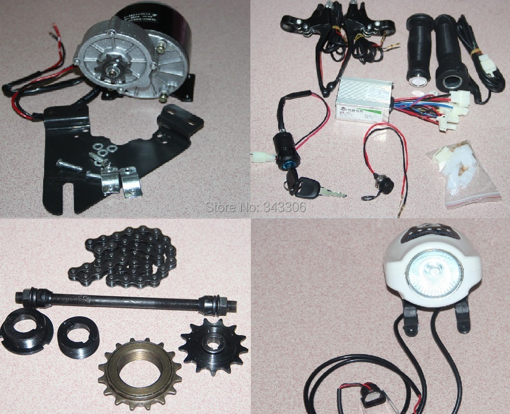 24V 350W Electric Bike Conversion Kit DIY Geared Brush Motor Cycling Accessories(China (Mainland))