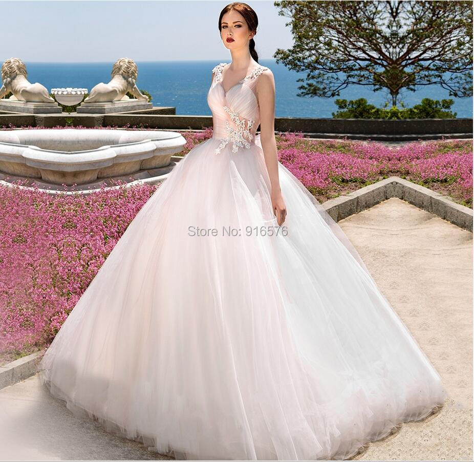 Wedding Dresses Pink Accents - High Cut Wedding Dresses