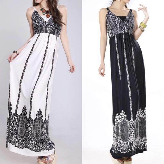 , one piece long dress, 2014 summer womens dresses - VICSEE International Apparel Ltd store