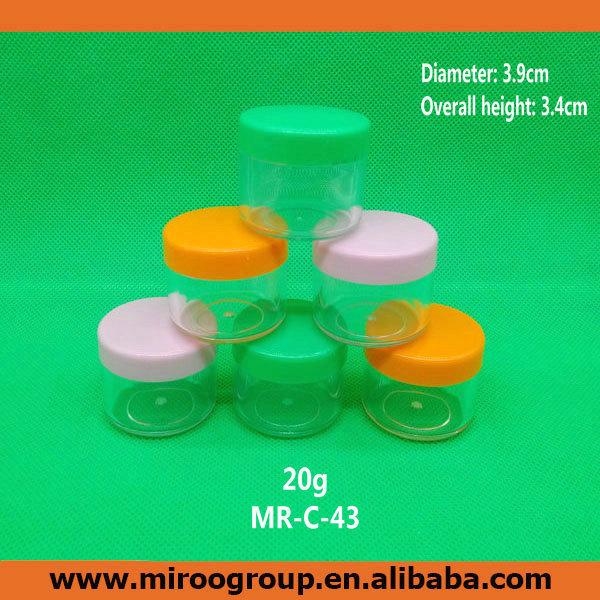 Free Shipping 50pcs lot 20ml 20g plastic jar cosmetic container cream jar cream bottle 20g cream