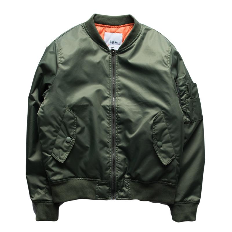 Bomber Jacket Men Brand Solid Color Long Sleeve Men Jacket Casual Streetwear Windbreaker Baseball Jacket Military Army Green(China (Mainland))