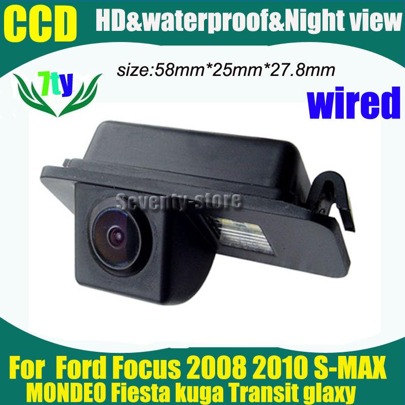 CCD car parking backup Camera for Ford Focus 2008 2010 S-MAX MONDEO Fiesta kuga Transit glaxy car rear view backup camera(China (Mainland))