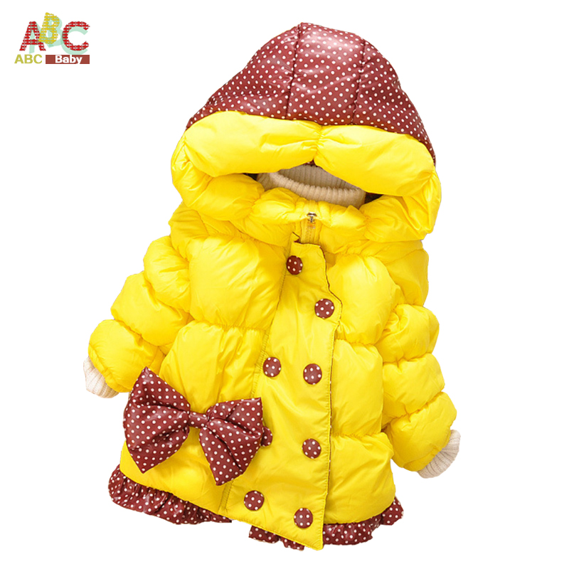 Baby Girls Winter Coats New Children Coat Cotton Full Sleeve Coat Girl's Warm Baby Jacket Winter Outerwear Thick Girl Clothing(China (Mainland))