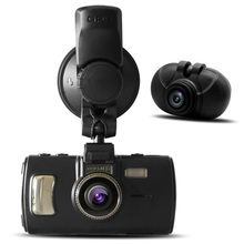 2015 Car Camera Ambarella A7LA70 DVR with two cameras full hd 1296P GPS Logger video Recorder