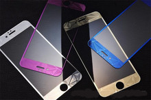 5set mix color 3D Rhombic Electroplated Phone Tempered Glass Front and Back 2 Sides Full Cover Screen Protector for iphone 6 6S