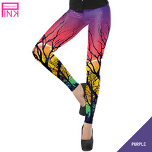 Buy Women Sporting Leggings New Fashion Skinny High Elastic Waist Fitness Leggins Workout Pants Trousers Ladies Purple Ropa Mujer for $9.09 in AliExpress store
