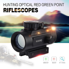 New 1 x 30RD Riflescope Tactical Holographic Red Green Dot Sight Scope Project 20mm Rail Mount for Shot Gun Hunting Airsoft(China (Mainland))