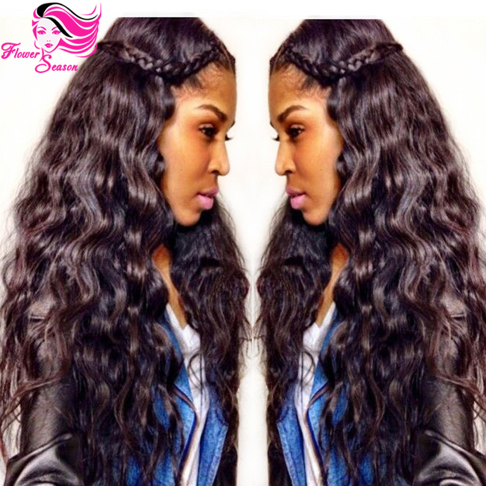 Hotsale Loose Wave Malaysian Virgin Hair Full Lace Wig For Black Women Unprocessed Full Lace Virgin Hair Wigs With Baby Hair(China (Mainland))